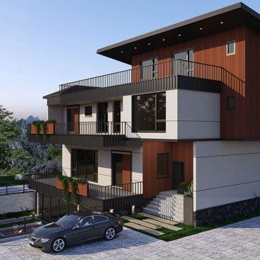گروه معماری بام - ویلای دهکده خوشبختی