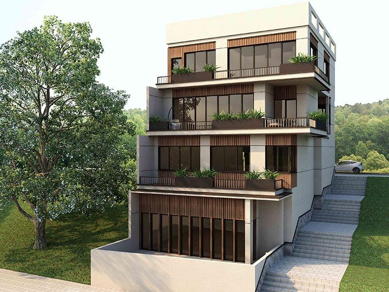 گروه معماری بام - پروژه ویلای آیینه ورزان