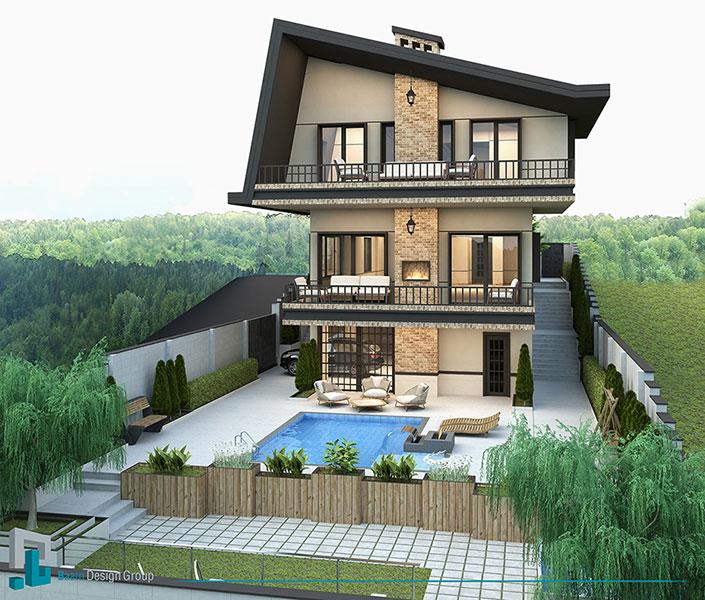 گروه معماری بام - ویلای مهرآباد