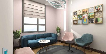 طراحی اتاق انتظار مطب