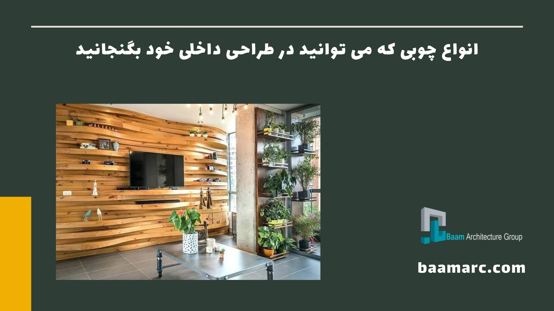 انواع چوبی که می توانید در طراحی داخلی خود بگنجانید