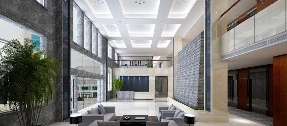 طراحی لابی ساختمان