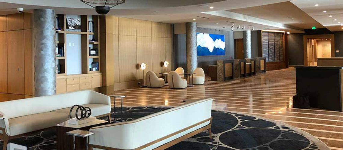 Interior design of residential lobbies