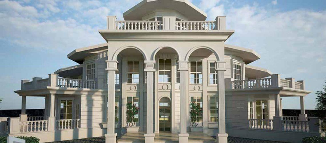 طراحی شاه نشین نمای ساختمان