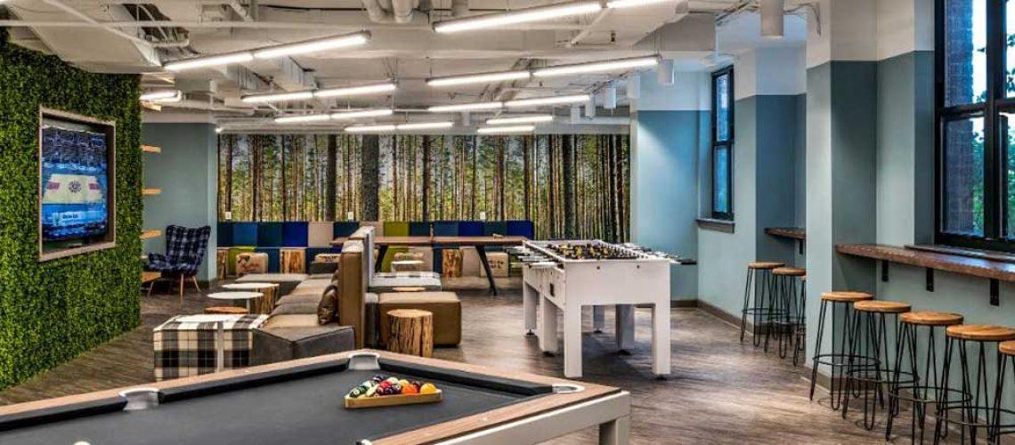 طراحی دکوراسیون اتاق بازی در فضای کاری